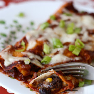Cheesy Black Bean and Corn Enchiladas