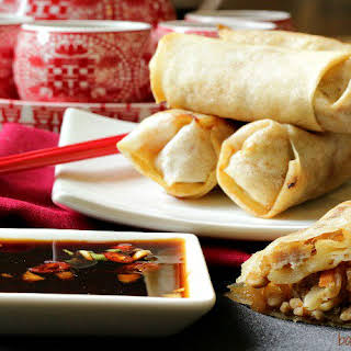 Baked Chinese Spring Rolls.