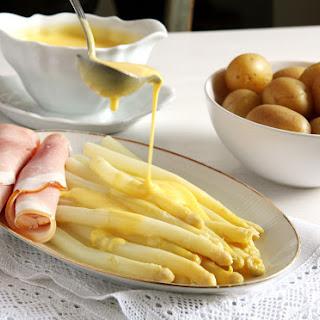 Asparagus with Sauce Hollandaise.