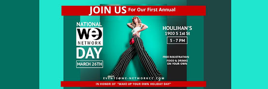National WE Network Day | March 26th | 5 - 7 PM