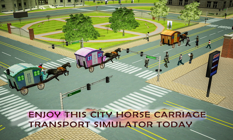 android Horse Carriage Transport Drive Screenshot 1