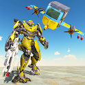 Flying Rickshaw Robot Transform Shooting Game icon
