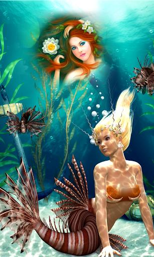 玩免費攝影APP|下載人魚のフォトフレーム app不用錢|硬是要APP