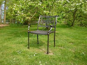 Photo: Dining Cast Aluminium Garden Chair  http://www.outsideedgegardenfurniture.co.uk/Cast-Aluminium-and-Metal-Garden-Furniture/Garden-Chairs/Cast-Aluminium-Patio-Chair.html