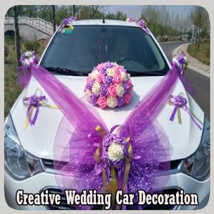 Kreativní svatební auto dekorace - náhled