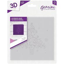 Crafters Companion Gemini 6x6 3D Embossing Folder - Festive Pine