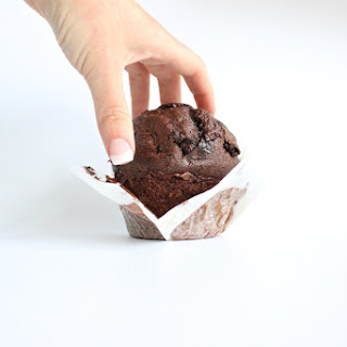 Single-Serving Chocolate Muffin with Fudge Sauce