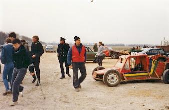 Photo: autocros op de ijsbaan - 1986