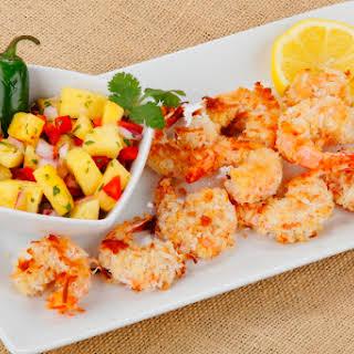 Coconut Shrimp with Pineapple Salsa.
