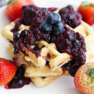 Gluten-Free Almond Berry Waffles