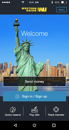 Western Union US - Send Money Transfers Quickly Screenshot