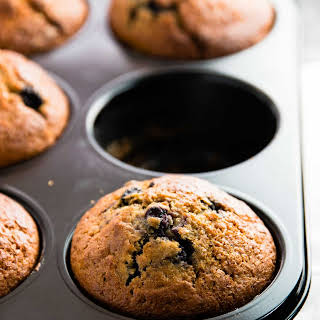 Healthy Blueberry Lemon Muffins.
