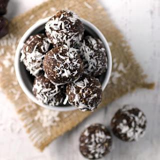 Chocolate Coconut Date Balls.