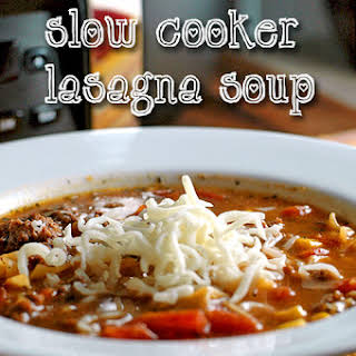 Slow Cooker Lasagna Soup.