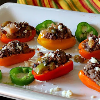 Picadillo Stuffed Mini Bell Peppers