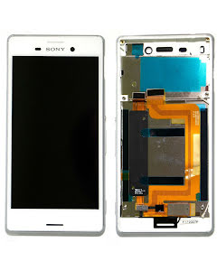 Xperia M4 Aqua Original Display White