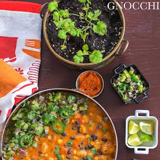 Vegan Mexican Gnocchi.