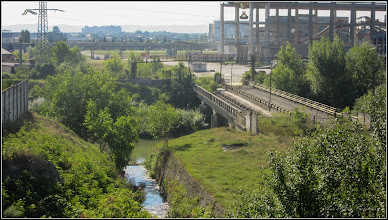 Photo: Str. Miron Costin - pod  peste Paraul Sandulesti - vedere paraul Sandulesti si Podul Industrial - 2017.07.18