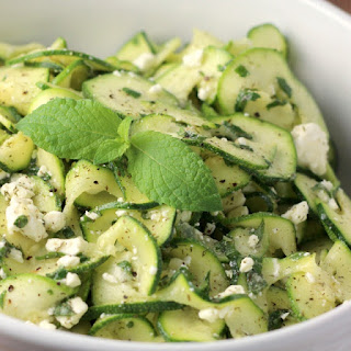 Greek Style Zucchini Ribbon Salad