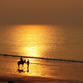 The Princess.  by Alokemoy Basu - Landscapes Beaches ( beach )