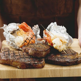 Grilled Beef and Seafood.