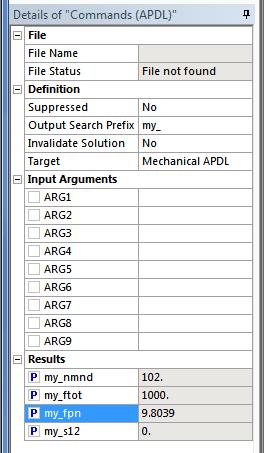 ANSYS, поставьте флажок в окошке перед именем переменной, а затем выполните расчет