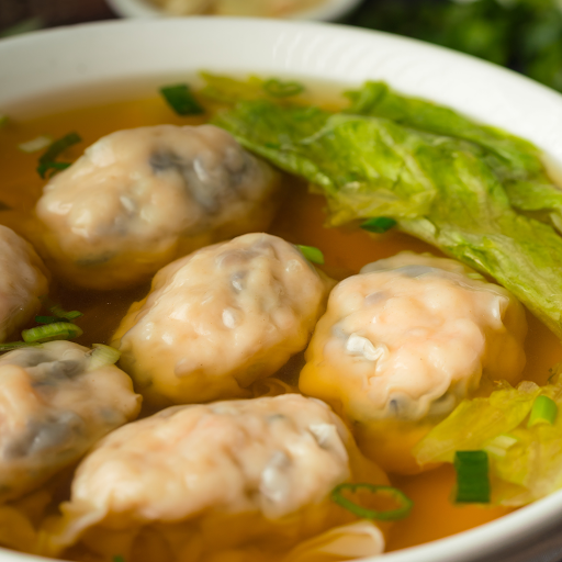 Shrimp Dumpling Soup