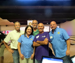 Photo: The Winners (in their own minds)! - Don, Mary, John, Eli, and Steve -  They actually had an excellent three game combined score. - Bowling for Literacy to fund The Dictionary Project  of the Deland Rotary Clubs and The Rotary Club of DeBary-Deltona-Orange City, in Rotary District 6970.  In September, special dictionaries will be given to third graders in Southwest Volusia schools! - August 8, 2015