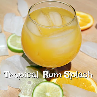 Tropical Rum Splash Cocktail.