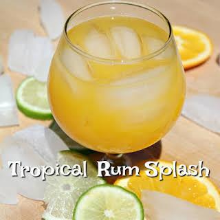 Tropical Rum Splash Cocktail.