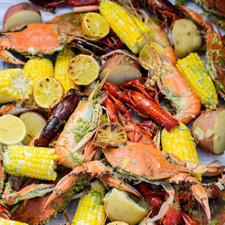 Seafood Boil with Homemade Seasoning.