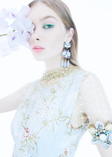Beauty editorial featuring makeup products from Sephora Collection and Aerin x Johanna Ortiz.