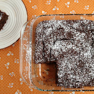 Fudgy Chocolate Pumpkin Cake.
