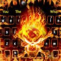 Horror Fiery Flame Skull Keyboard icon