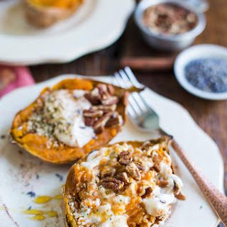 Breakfast Baked Sweet Potatoes