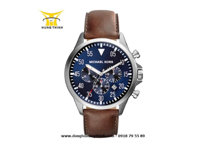 Mẫu sản phẩm đồng hồ MK nam dây da mặt xanh độc đáo, thời trang cũng có mức giá tương tự- 7.838.000 vnd (Mua ngay sản phẩm tại đây)