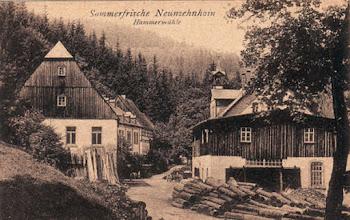 Photo: Wünschendorf im Erzgebirge  Sachsen  Hammermühle Neunzehnhain  -  Postkarte um 1910