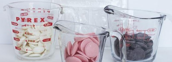 Fill glass cup with chocolate disks and place in microwave melting at 30 seconds...