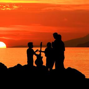 SUNSET III by Adhy Winata - Landscapes Sunsets & Sunrises