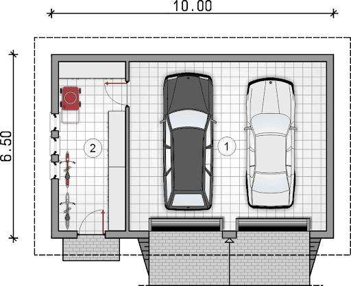Z 22 - Rzut garażu