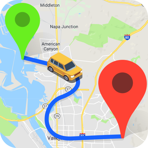 GPS mapas de navegação