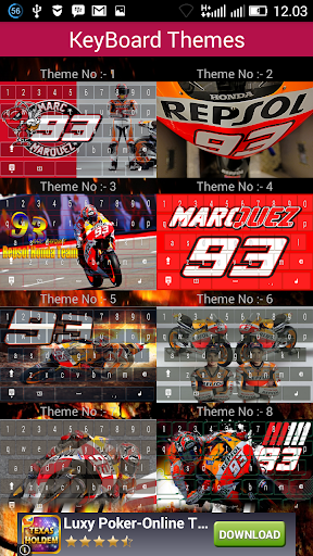 Marc Marquez Keyboard Themes