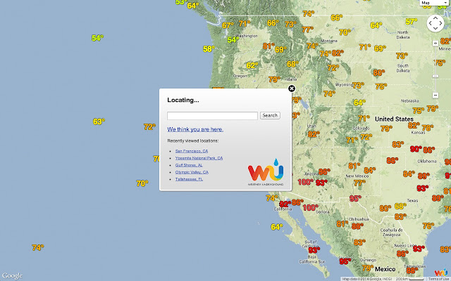 Full Screen Weather Chrome Web Store - Us radar map in motion
