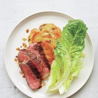 Strip Steak With Crispy Gratin-Style Potatoes