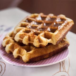 Belgian Kahlua Pecan Waffles