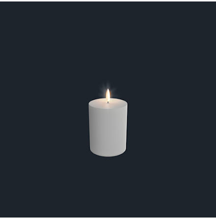 UYUNI Pelarljus LED - Vit - 7,8 x 12,9 CM