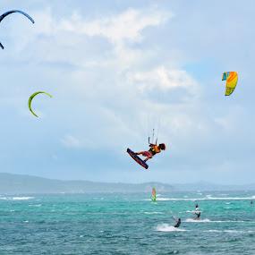 kite boarding by Philip Familara - Sports & Fitness Watersports ( watersports, boracay, kite, boarding, kite boarding, air, activity, island,  )