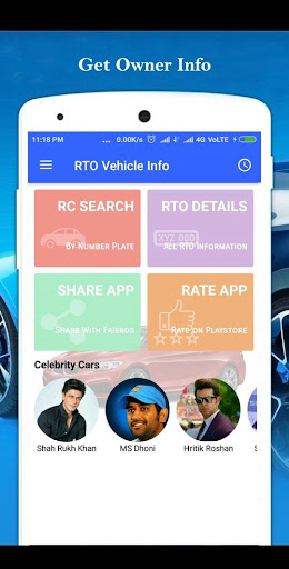 Vehicle Owner RTO - Vehicle Information App 1.9 screenshots 1