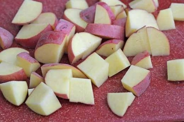 I cut up my potatoes different ways just depends on how I feel. Normally...