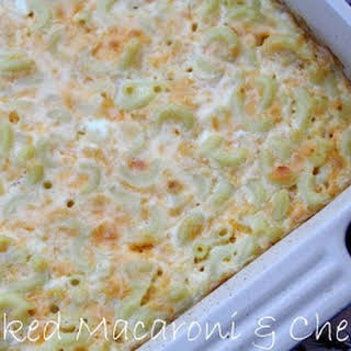 Baked Macaroni and Cheese {The Deen Brothers Recipe}.